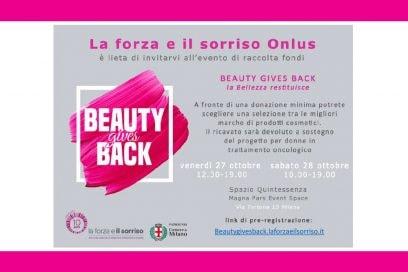 Beauty Gives Back con La forza e il sorriso Onlus