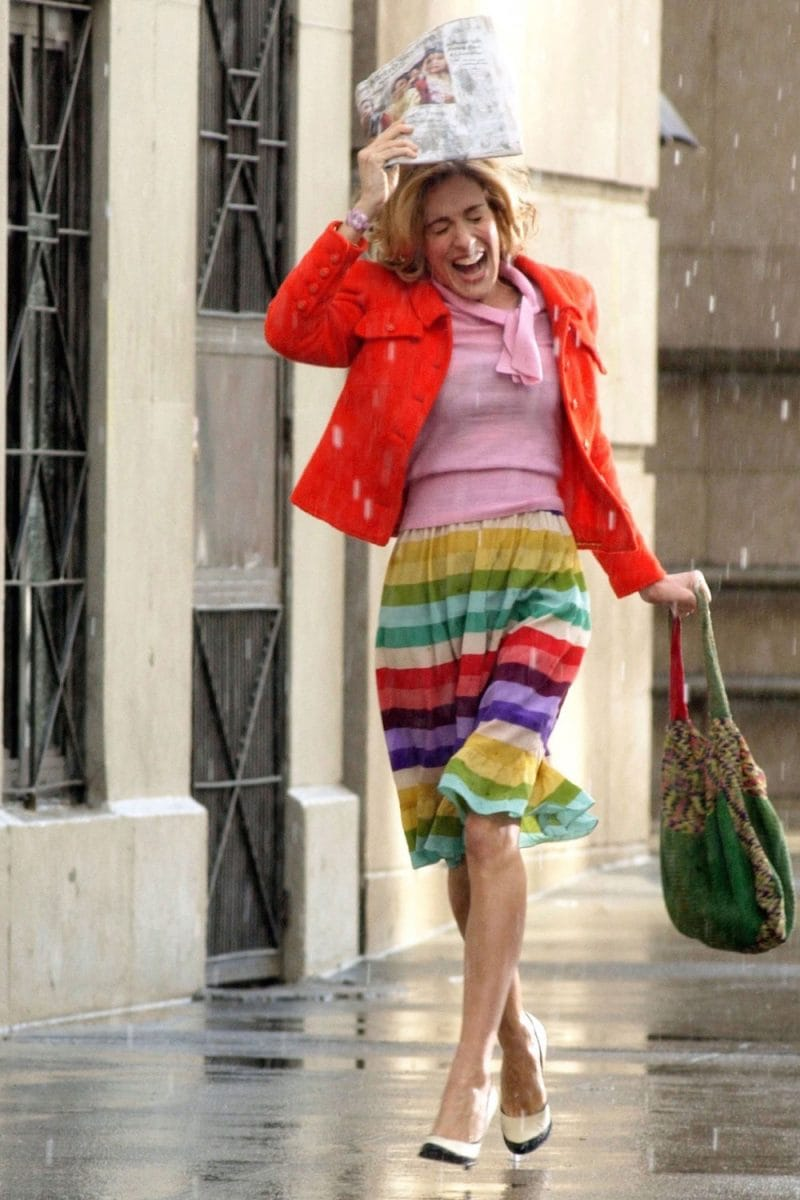 Carrie Bradshaw pioggia