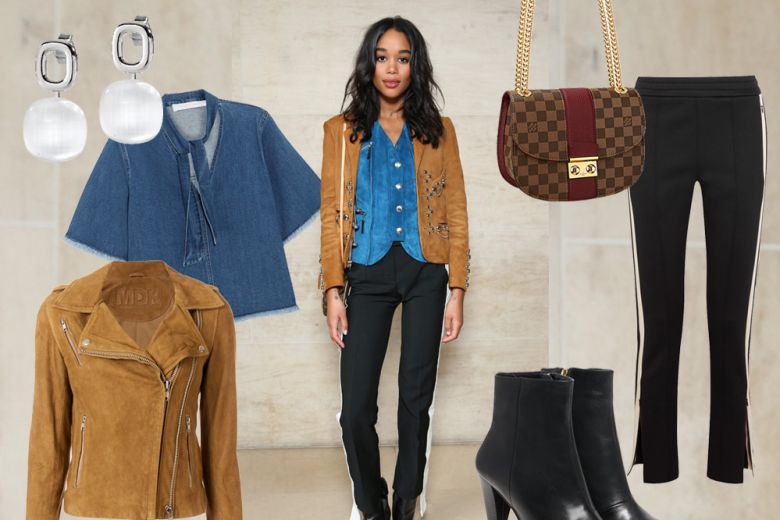 Laura Harrier in stile rodeo-chic di Louis Vuitton: get the look!