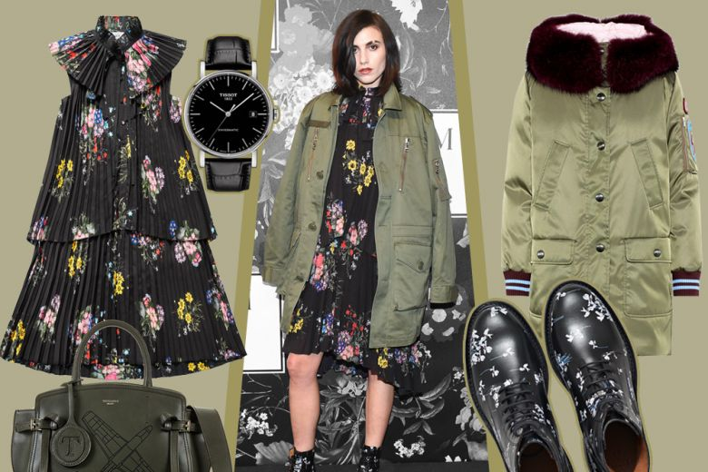 Floreale con grinta come Langley Fox in ERDEM X H&M