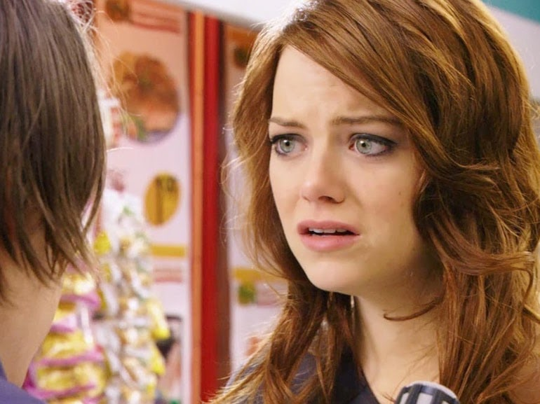 Emma Stone triste
