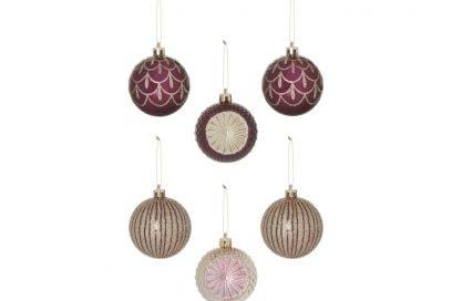 KIMBALL-1374501-6PK glitter bauble decorations copper, grade ROI G FRIT J IB C, wk 01, €5 $6