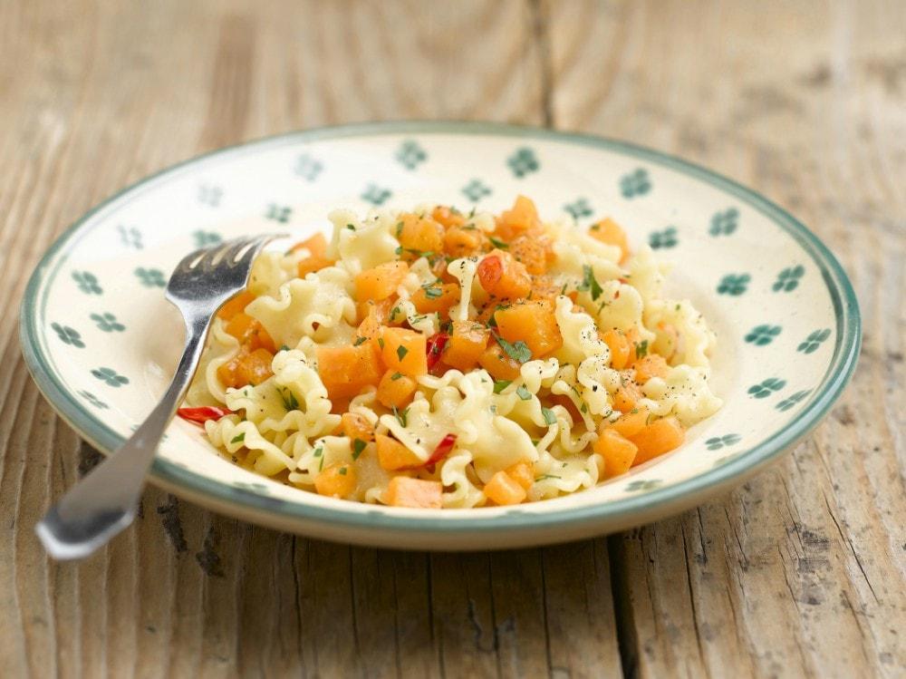 Pasta con la zucca