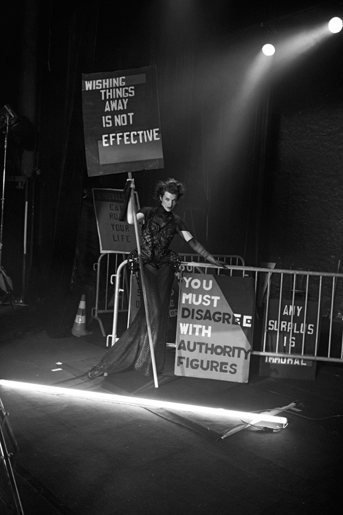 Peter-Lindbergh-New-Age-Of-Couture-Milla-Jovovich-In-Collaboration-With-Jenny-Holzer–Published-In-Vogue-Italia,-September-2012