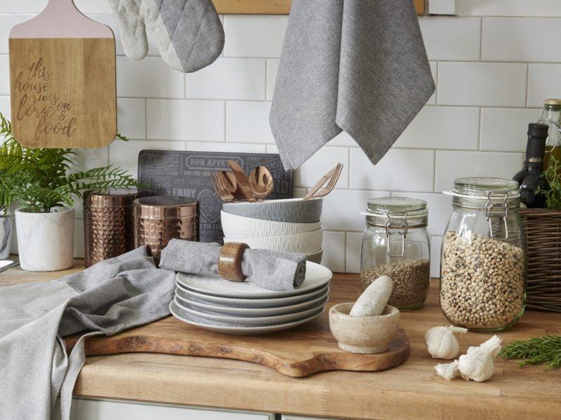 Primark Hygge Kitchen jars from €1 $1, plates, €3 $3.50, napkin holder, €2.50 $3