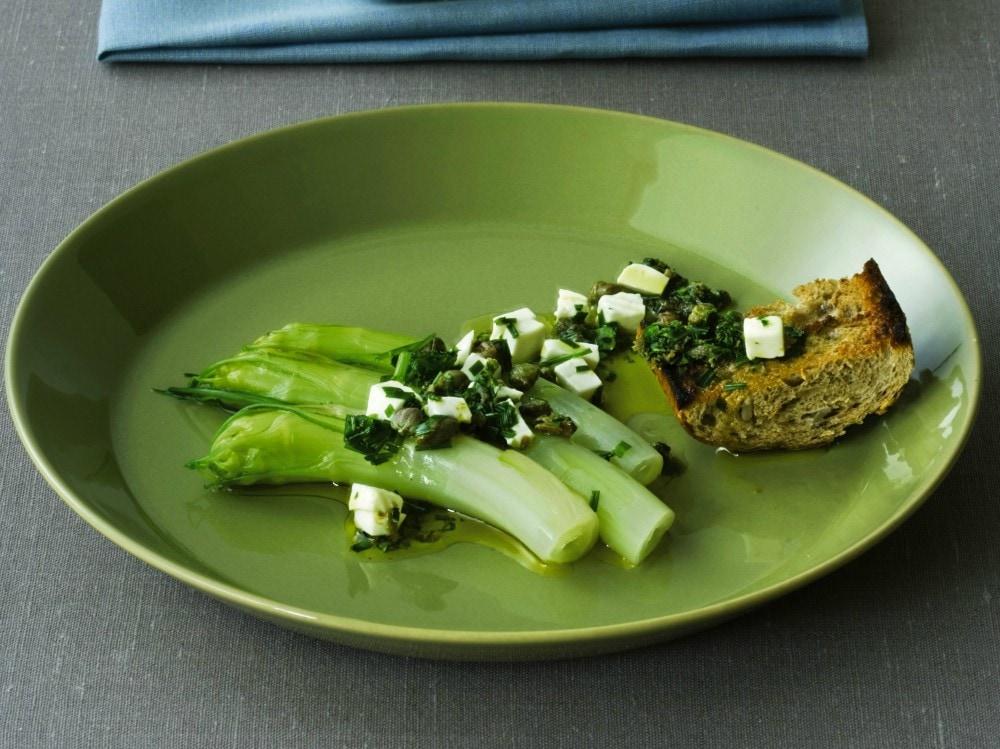 Puntarelle cotte con salsa sfiziosa