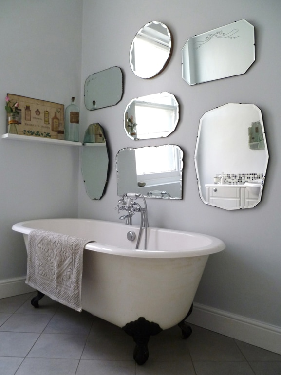 How To Hang A Display Of Vintage Mirrors Mirror Walls Grey And i