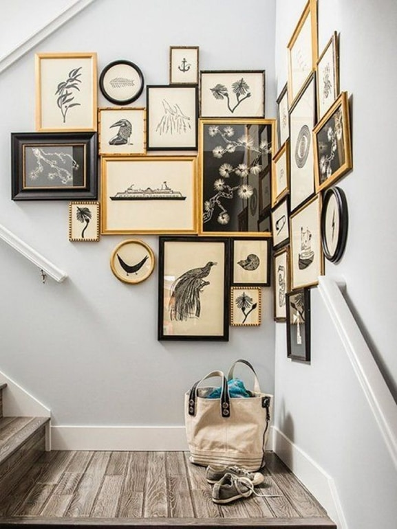 How To Decorate Wall 1000 Ideas About Stairway Wall Decorating O