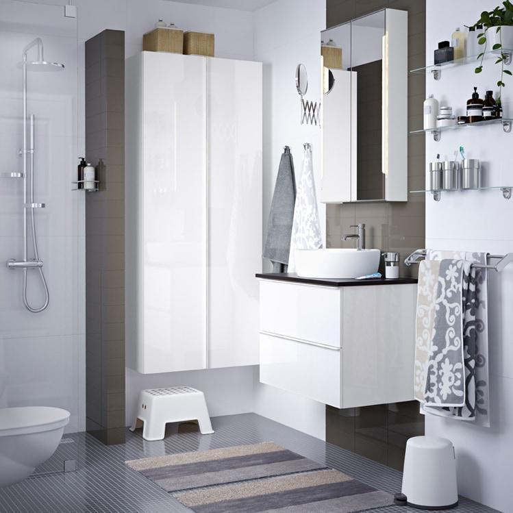 Come arredare il bagno con i mobili ikea for Catalogo ikea accessori bagno