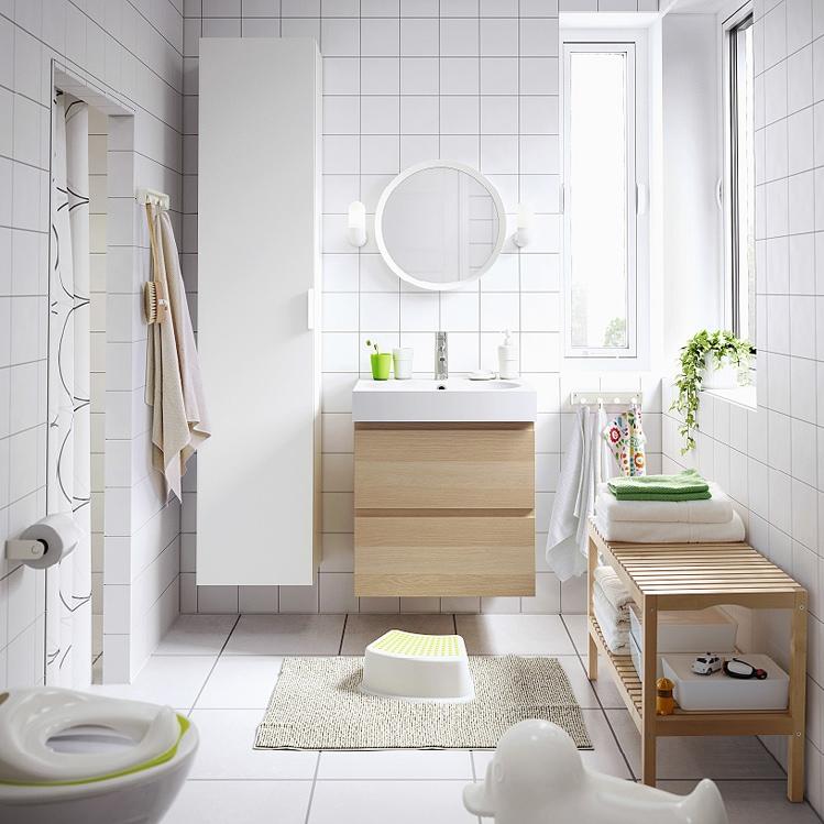 Come arredare il bagno con mobili ikea grazia - Specchio tondo ikea ...