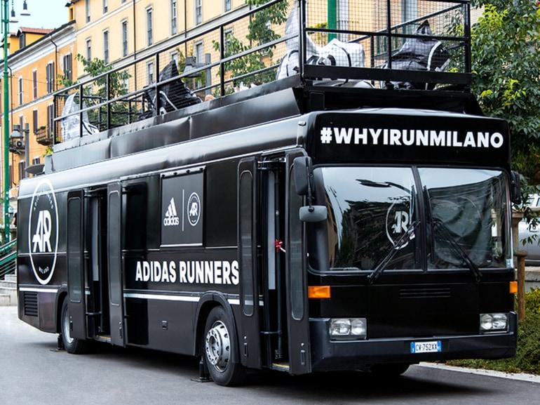 bus adidas runners milano Darsena Navigli Lambrate community running
