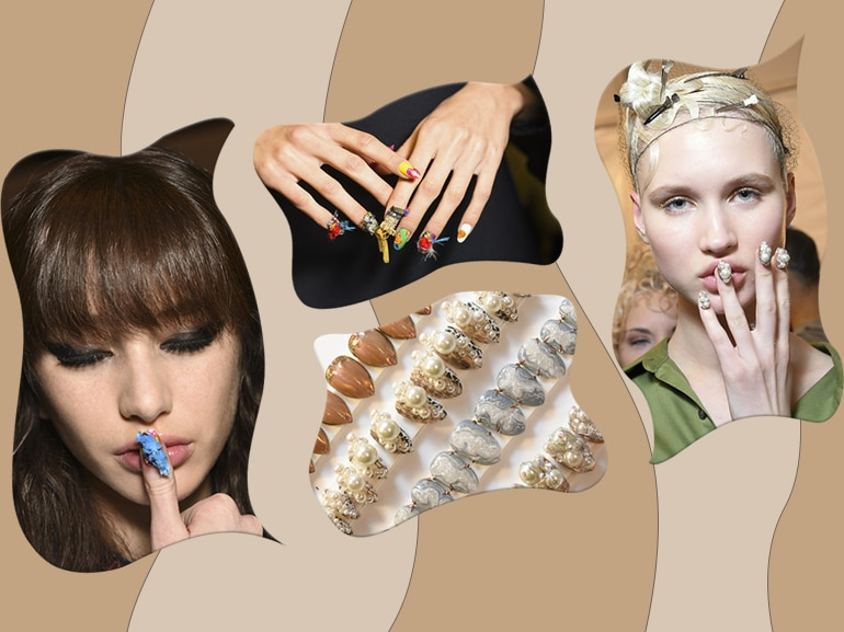 Unghie 3D: le applicazioni in rilievo sono il nail trend del momento