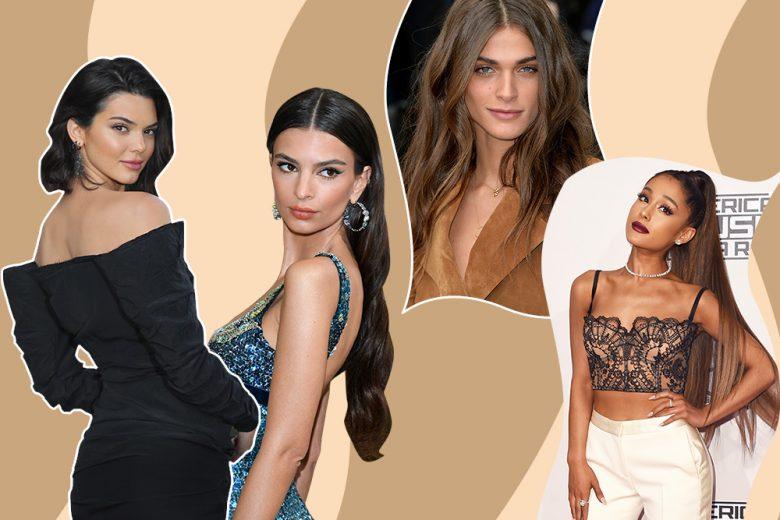 Capelli castani delle star: gli hair look più glam