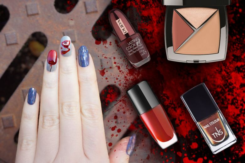 Halloween: la nail art di It creata da Non Solo Kawaii