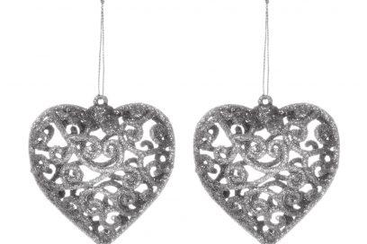 kimball-1376203-4pk hallow heart decorations silver, grade missing, wk 01, €2 $2.50