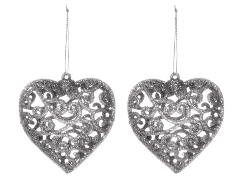 kimball-1376203-4pk hallow heart decorations silver, grade missing, wk 01, €2 $2.50
