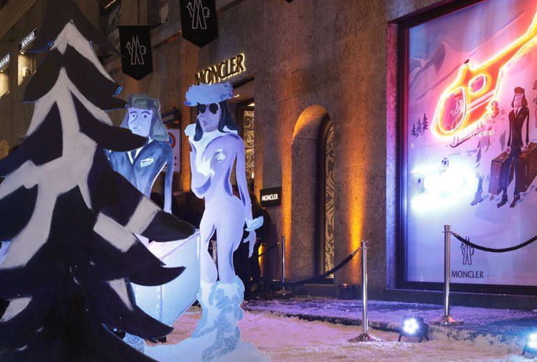 Moncler: fiocchi di neve e celeb in Montenapoleone per il nuovo flagship store