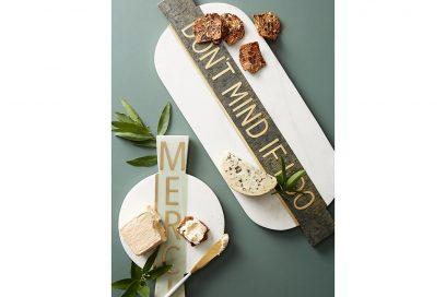 2. Festive Marble Cheese Board
