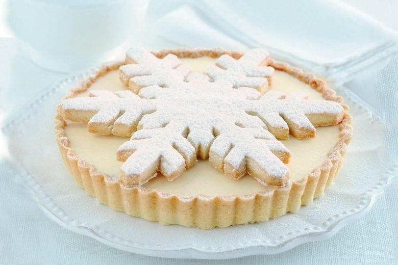 Crostata di Natale con marron glacé