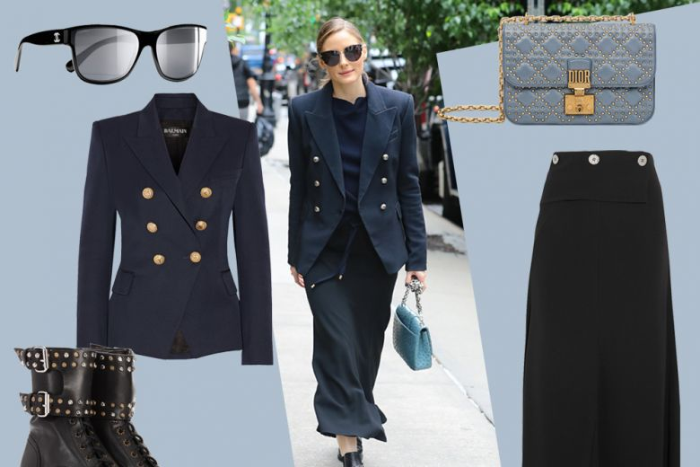 """In """"blu e nero"""" come Olivia Palermo: get the look!"""