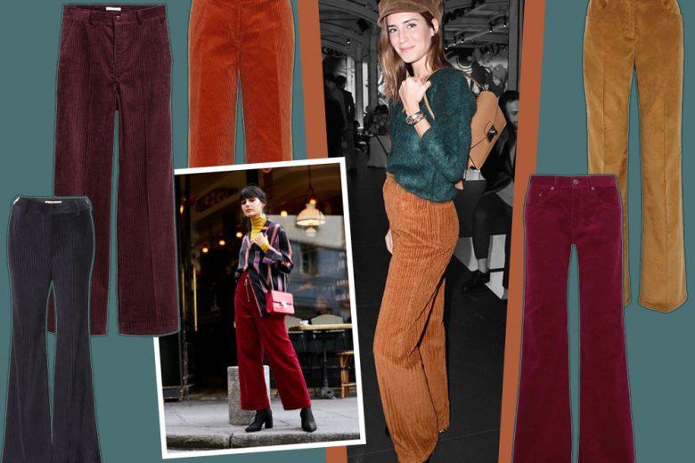 A volte ritornano: i pantaloni di velluto a coste per l'autunno 2017