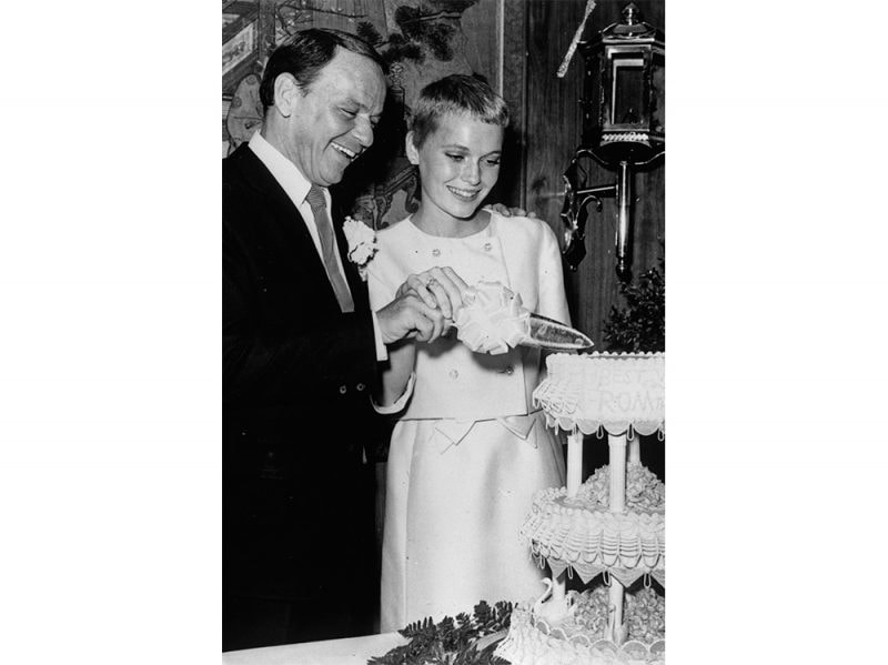Frank Sinatra and actress Mia Farrow 1966 getty