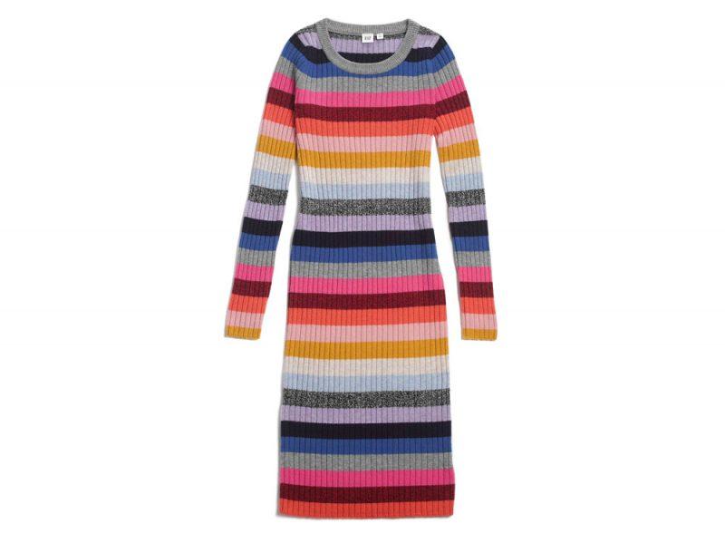GAP-Long-sleeve-crazy-stripe-dress-£89