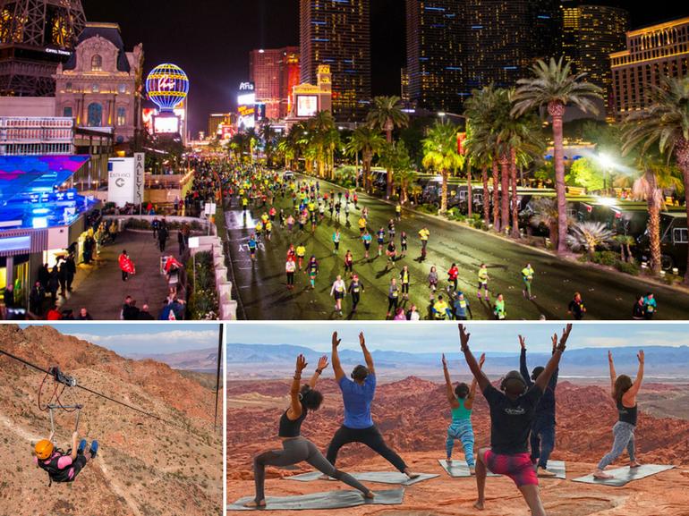 Las Vegas Yoga Running Maratona Viaggio Regalo Natale Sportivi