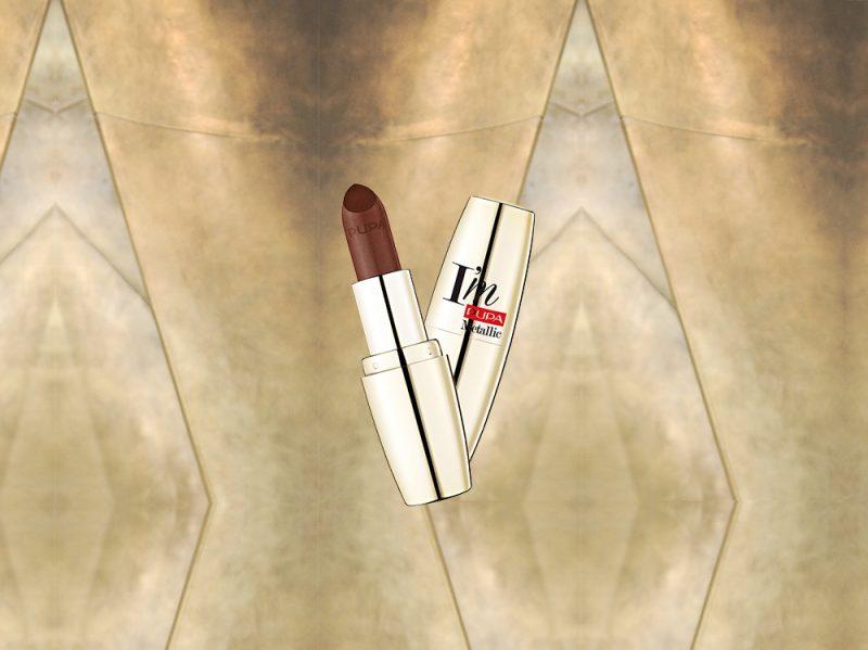 MARRONE make up prodotti di bellezza rossetto metallizzato pupa (17)