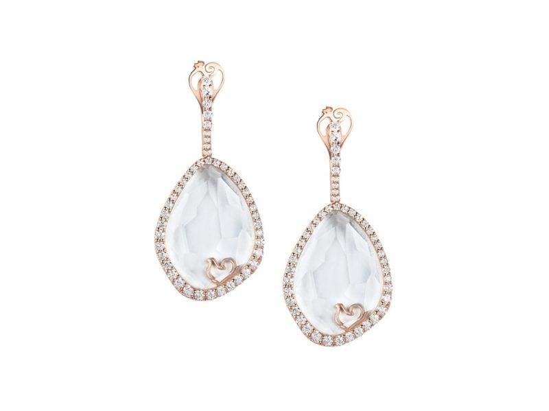 Orecchini-in-oro-rosa-e-diamanti-con-cristallo-di-zaffiro-sfaccettato-CHANTECLER