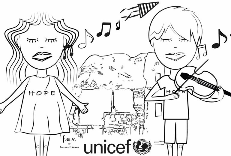 Privalia sostiene l'UNICEF con una t-shirt disegnata da Francesca Versace