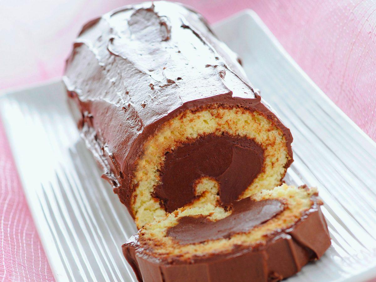 Tronchetto di Natale con ganache al cioccolato(1)