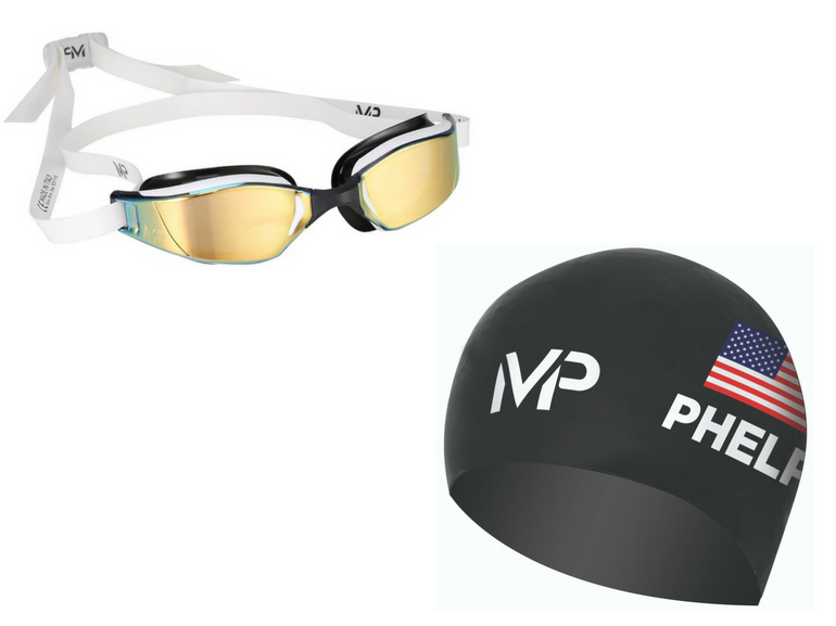 XCEED occhialini nuoto RACE CAP limited edition cuffia nuoto Michael Phelps regalo natale sportivo