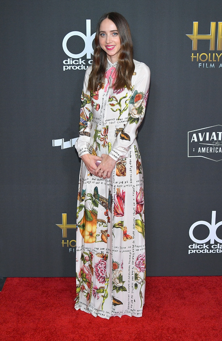 Zoe-Kazan-in-Gucci-getty