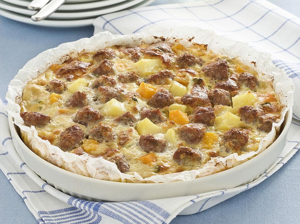 Zucca,-salsiccia-e-patate-al-forno