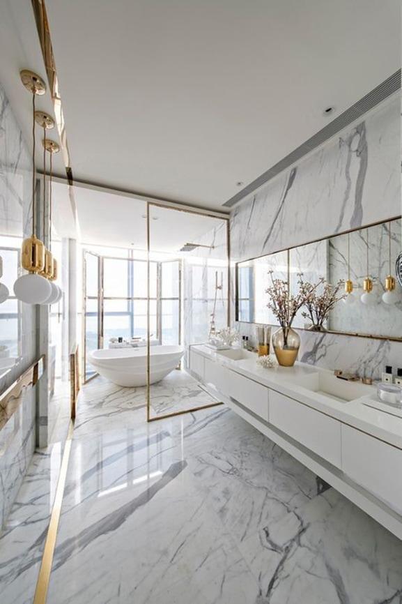 Come abbinare piastrelle e rivestimento in bagno - Piastrelle diamantate bagno ...