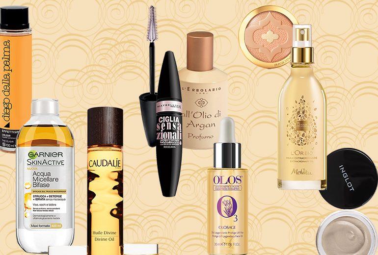 Olio di argan: benefici e prodotti consigliati per viso, corpo, capelli e make up