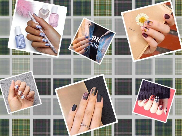 Tartan nail art: il check scozzese che fa tendenza