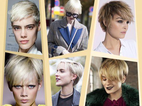 Sfumature capelli corti biondi