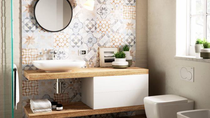 Come abbinare piastrelle e rivestimento in bagno grazia