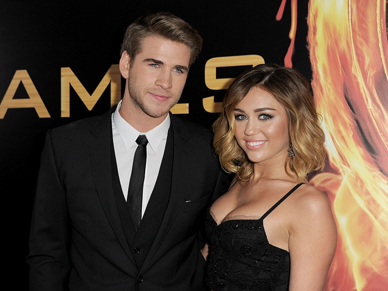 liam hemsworth miley cyrus hunger games