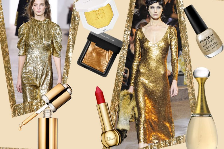 Oro: i prodotti di bellezza e make up gold più preziosi