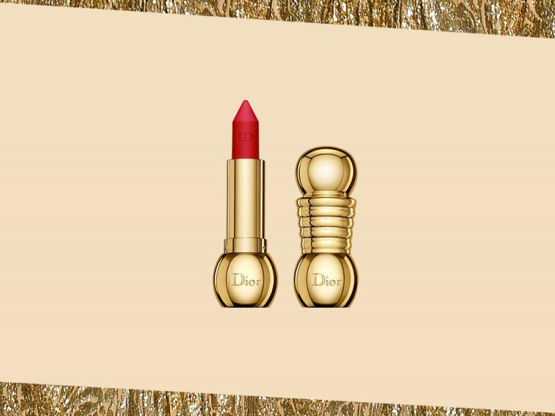 prodotti di bellezza make up oro rossetto rosso pack gioiello dior (10)