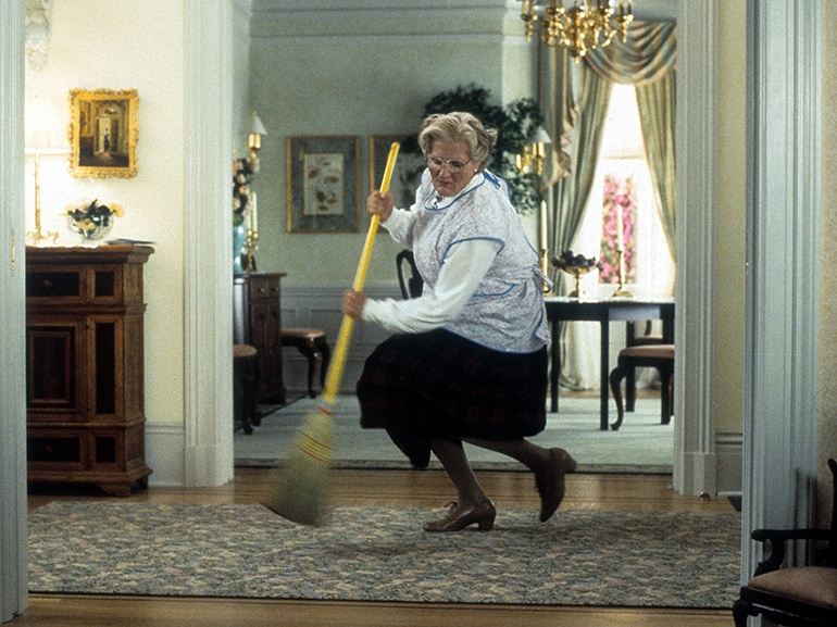 pulire casa mrs doubtfire