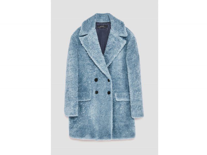 ZARA Cappotto-peluche azzurro carta da zucchero. 3eb822ae6060