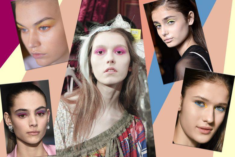 Trucco occhi fluo: il make up colorato per l'Inverno