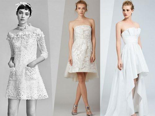 Vestiti Da Sposa Corti 2018.Abiti Da Sposa Corti 2018 In Pizzo Anni 50 E Gli Altri Nuovi Modelli