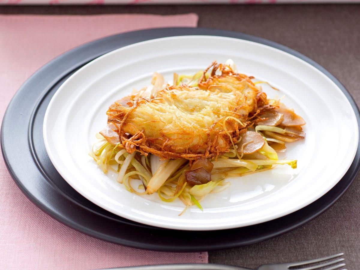 Filetto di pesce in crosta di patate