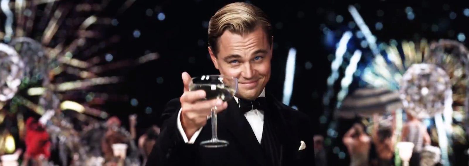 Leonardo Di Caprio bicchiere