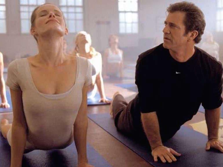 Mel Gibson yoga